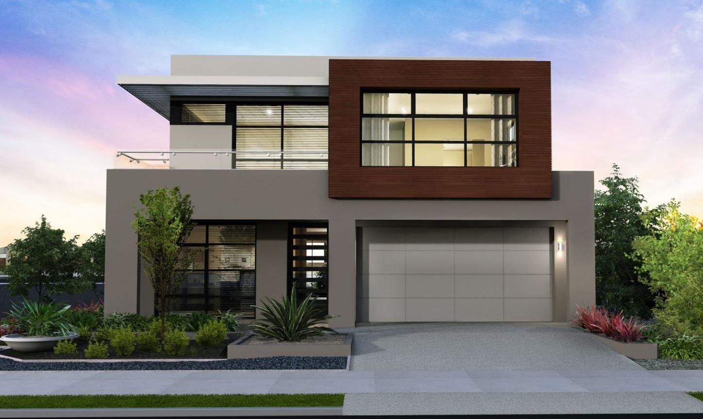 Fachada moderna con amplia iluminaci n - Iluminacion casas modernas ...
