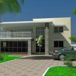 Fachadas de casas con estacionamiento