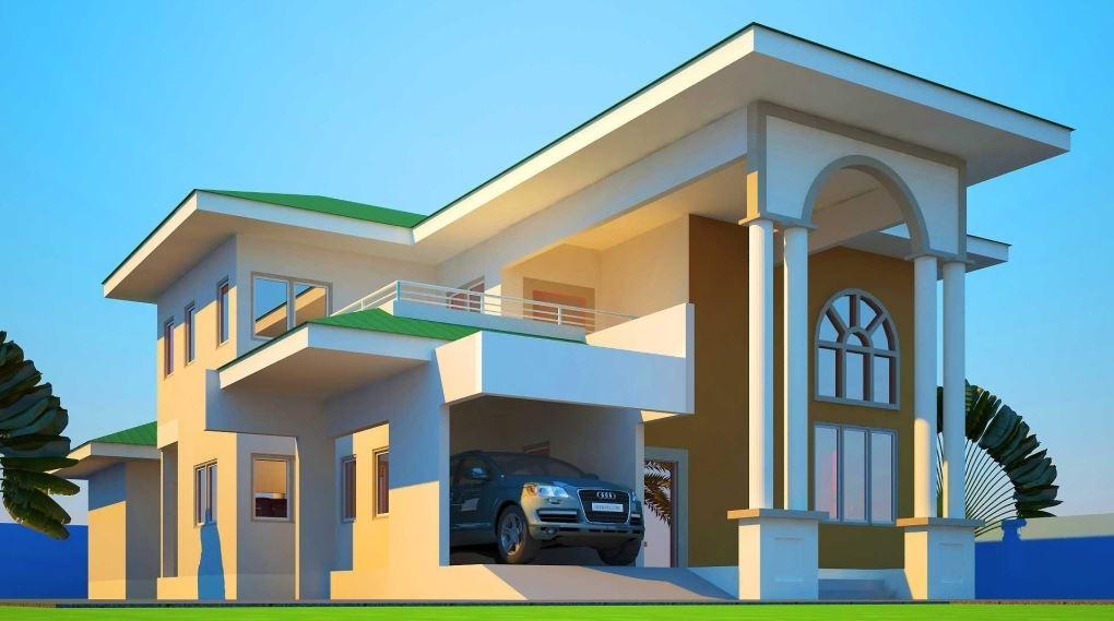 Fachadas de casas de dos plantas con columnas for Apartment design concepts pdf