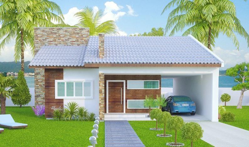 Fachadas de casas con chapas for Modelos de casas fachadas fotos