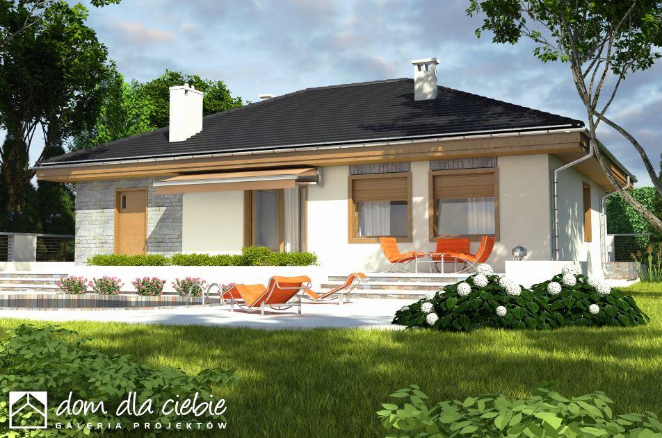 Fachada de casa moderna de un piso for Casas modernas 4 aguas