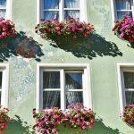 Fachadas con flores fotos