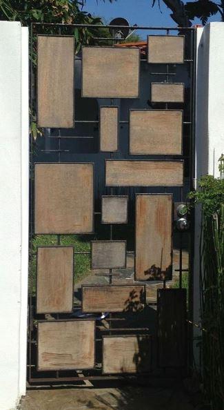 Portones individuales para fachadas de casas for Portones metalicos modernos
