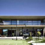 Casa de concreto con estilo vintage