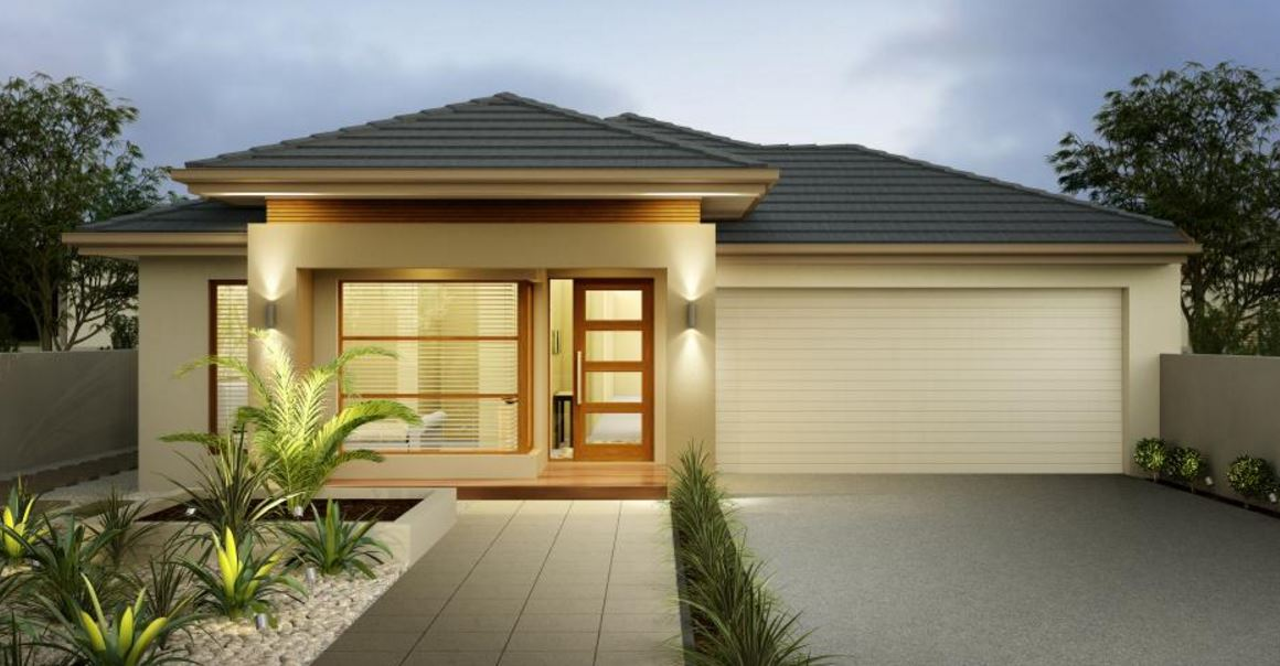 20 fachadas de casas de una planta for Casas modernas 4 aguas