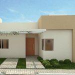 Fachada sencilla para casa de un piso sin cochera