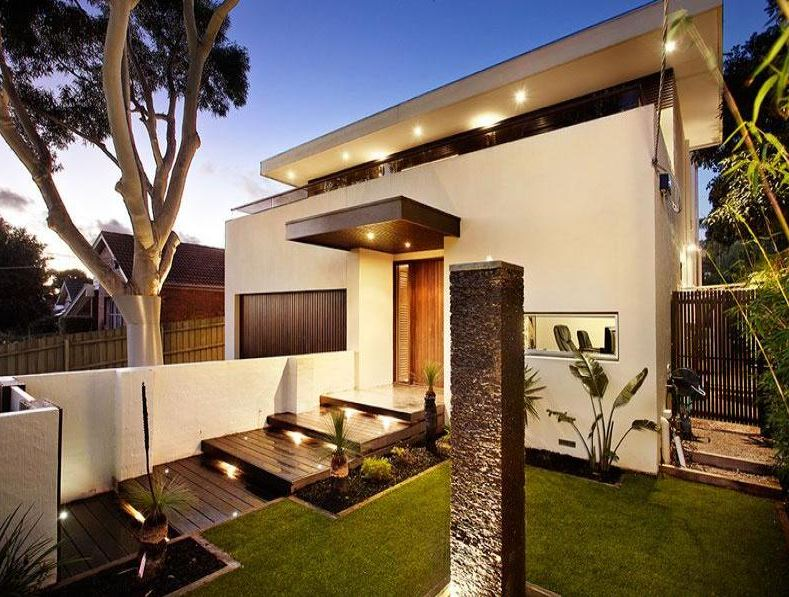 Fachadas ciegas for Frentes de casas minimalistas