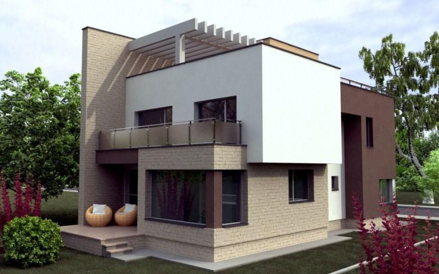 Fachadas de casas con lineas rectas for Casas modernas de dos pisos 2017