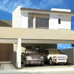 Fachadas de casas modernas con cochera abierta