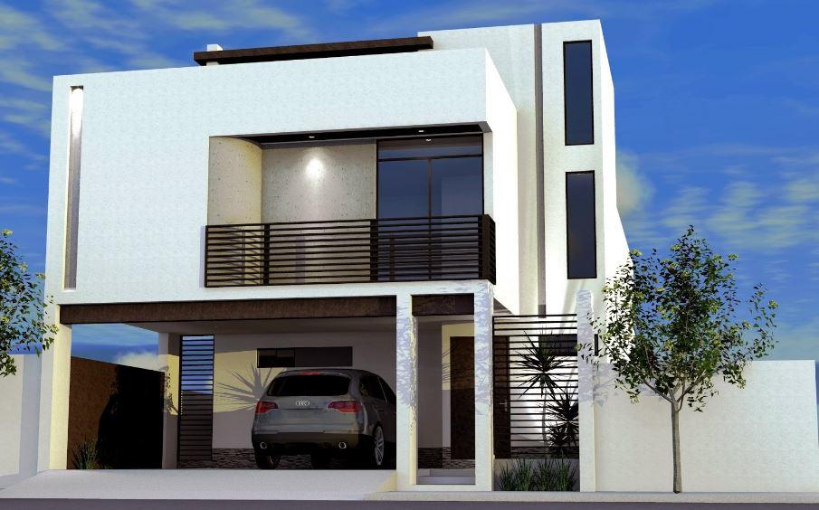 Fachadas de casas modernas con cochera abierta for Fotos de casas modernas con balcon