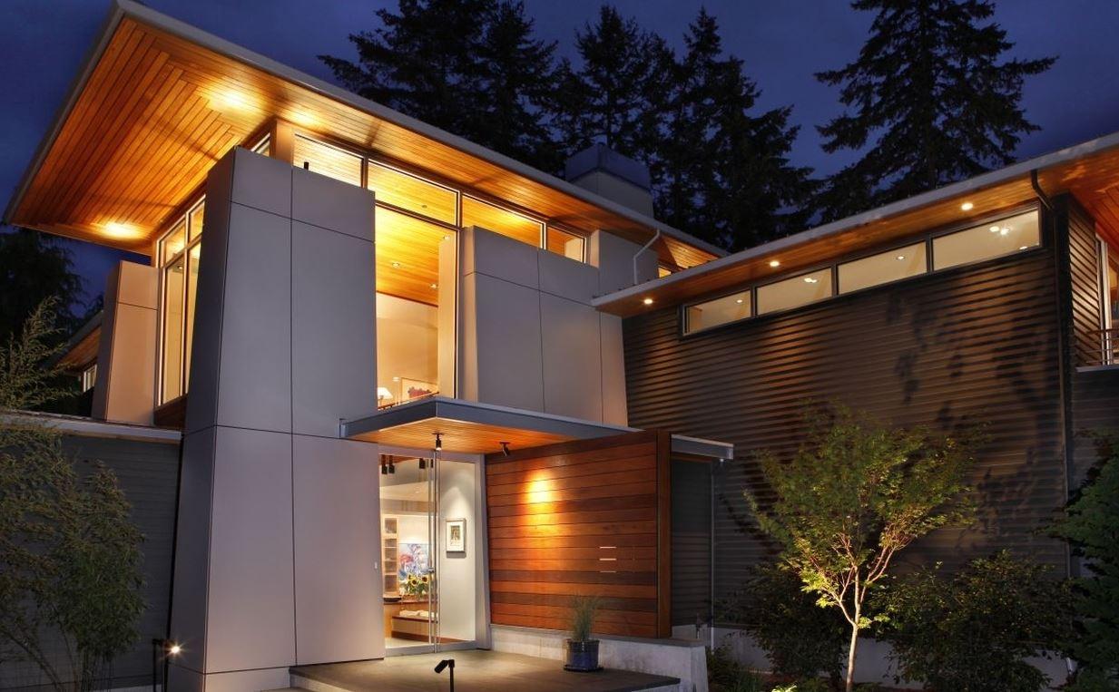 Fachadas de casas con paneles de madera Fachadas modernas para casas