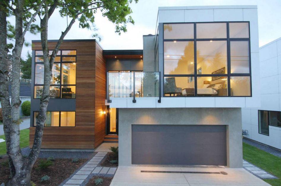 Fachadas de casas con paneles de madera - Paneles para paredes exteriores ...