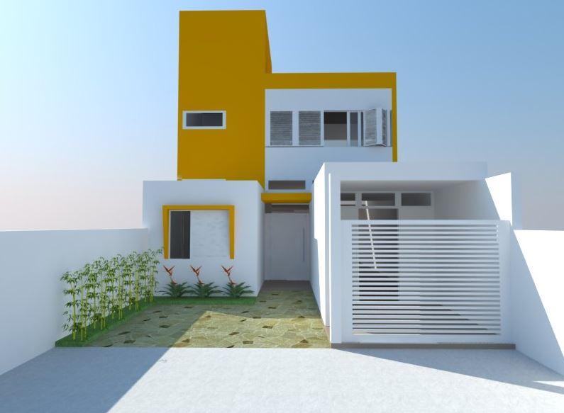 Fachadas discretas for Fachadas de casas de un solo piso