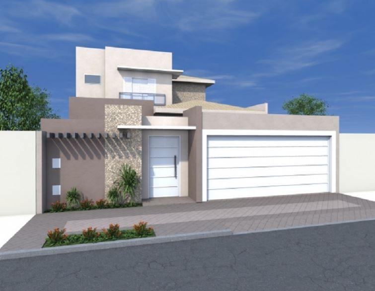 Fachadas modernas valle imperial casas de estilo moderno for Modelos de fachadas para casas