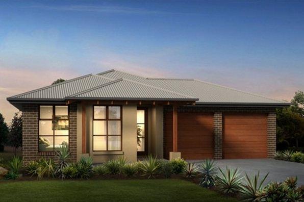 20 fachadas de casas de una planta for Modelos de casas con techos de chapas