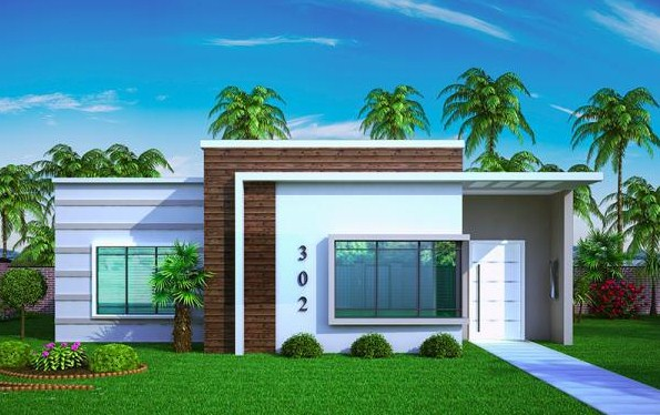 20 fachadas de casas de una planta for Fachadas de casas sencillas de una planta