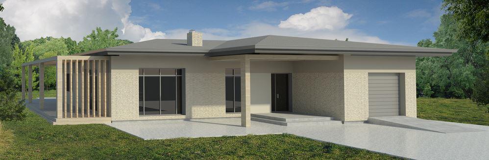 20 fachadas de casas de una planta for Casas modernas de una planta minimalistas