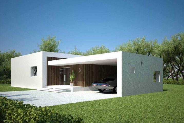 20 fachadas de casas de una planta for Plantas casas minimalistas