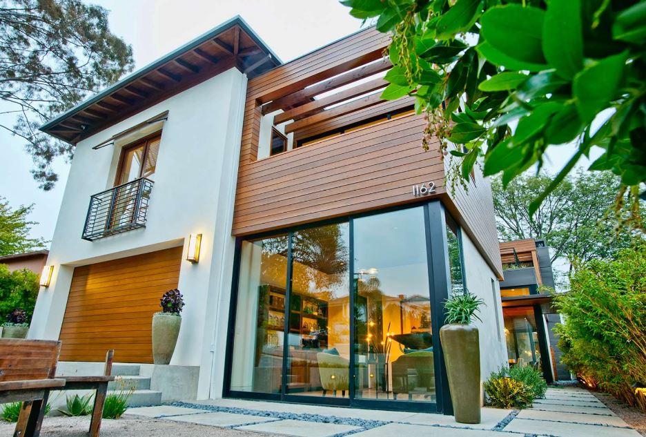 Fachadas de casas con paneles de madera - Como pintar la fachada de mi casa ...