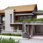 Casa clásica con terraza