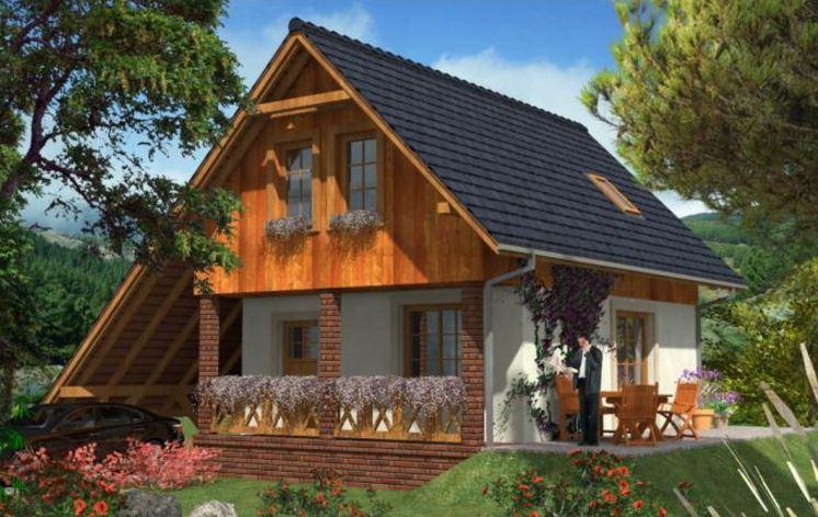 Fachadas de techos a 2 aguas for Techos planos para casas