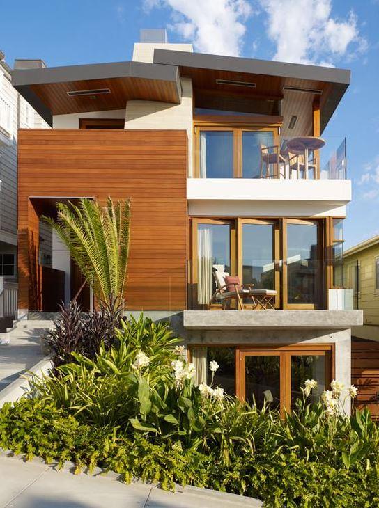 Fachadas de triplex fotos for Diseno de casas angostas