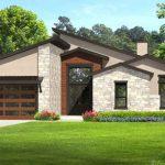 Fachada y contrafachada para casa de 300 metros cuadrados