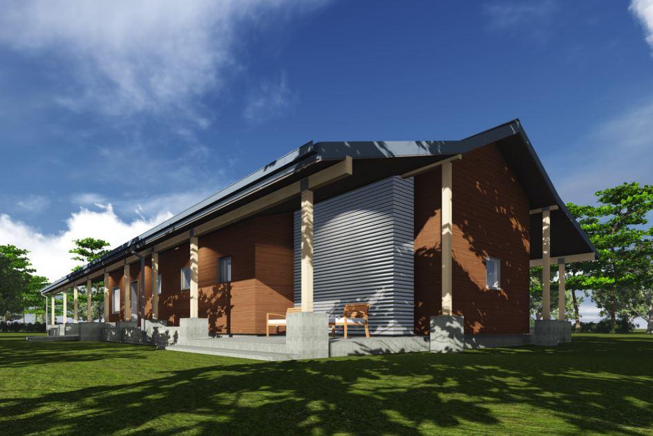 Modelo de fachada para casa de campo grande - Fachadas casas de campo ...
