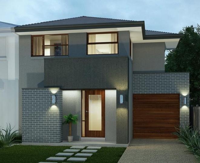 Fachada para casa moderna de 7 metros de frente for Frentes de casas modernas de dos pisos