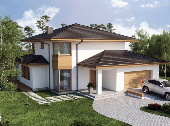 Fachadas de casas modernas con doble cochera for Ingreso casas modernas