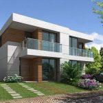 Fachadas de casas de dos pisos modernas con balcon