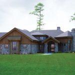 Fachadas de casas de piedra y madera