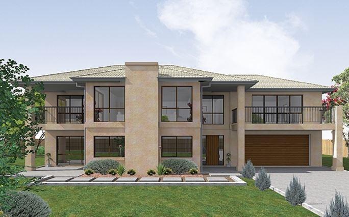 Fachadas de casas modernas con doble cochera for Fachadas modernas de una planta