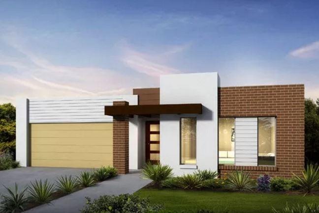 Fachadas de casas con techo escondido for Modelos de techos con tejas