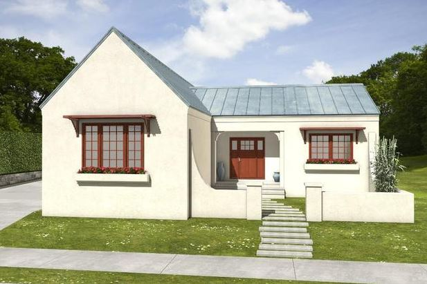 Fachadas de casas sencillas de techos de chapas for Techos planos para casas