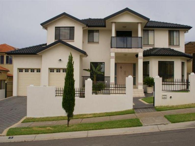 Fachadas con garage doble for Fachada de casas modernas con porton