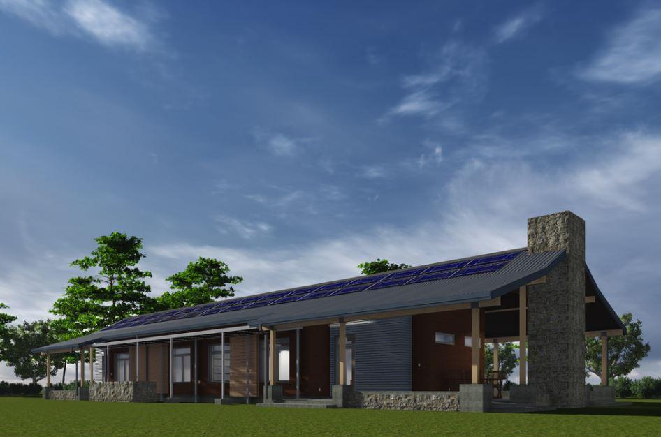 Modelo de fachada para casa de campo grande for Casa estilo campo moderno