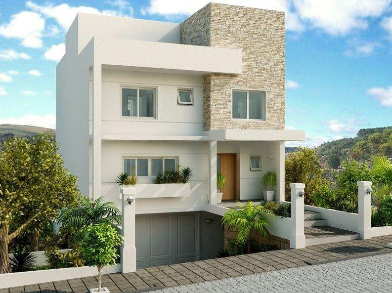 Fachadas de casas de 3 pisos for Pisos para cochera