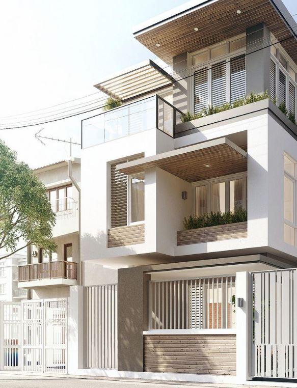 Fachadas de triplex fotos for Modelos de casas de planta baja