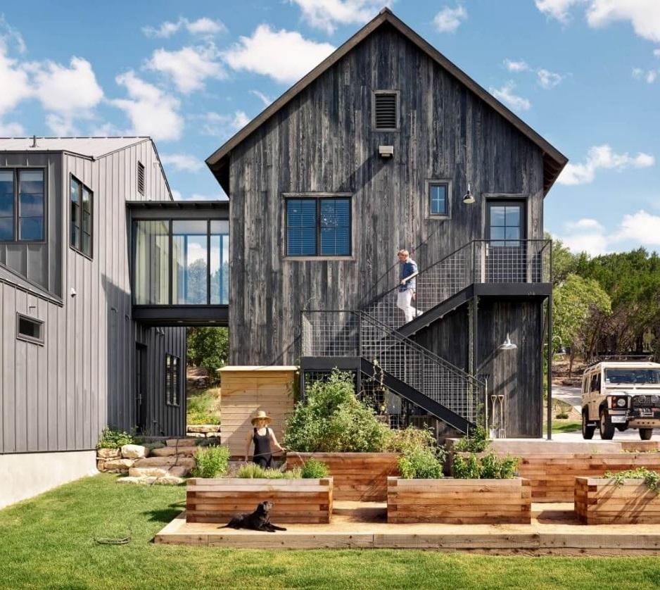 Fachada de casa angosta - Casa pequena de madera ...