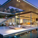 Fachadas de casas vidriadas