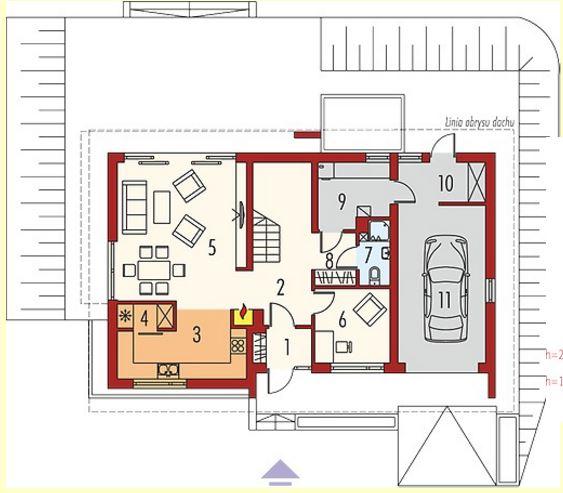 Fachadas con techos de chapa for Fachadas en planos arquitectonicos