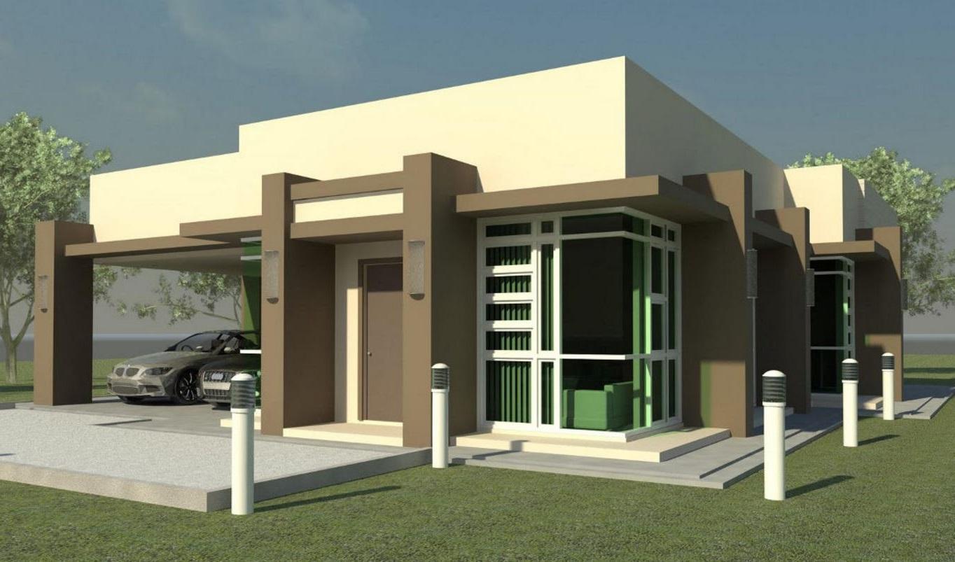 Fachadas con columnas - Iluminacion casas modernas ...