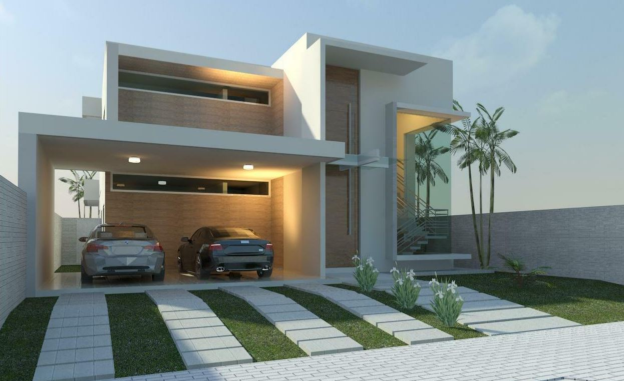 Fachadas casa with fachadas casa simple fachadas de casa for Fachada de casas modernas con balcon