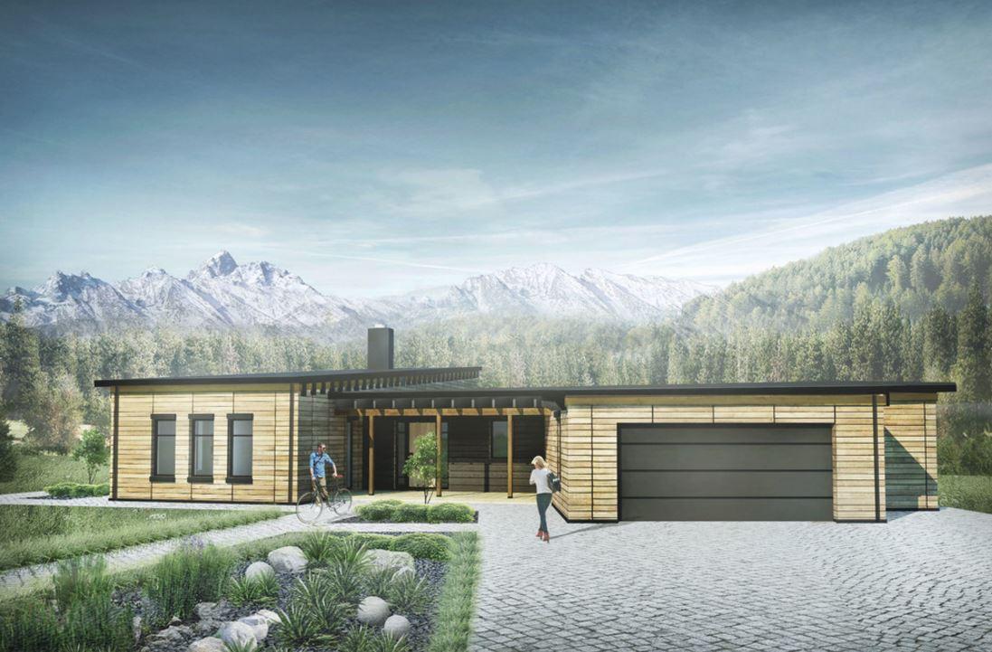 Fachadas con techos de chapa for Casa moderna 2017 espositori