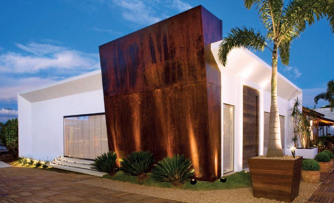 Fachada de casa moderna para terreno en esquina for Modelo de fachadas para casas modernas