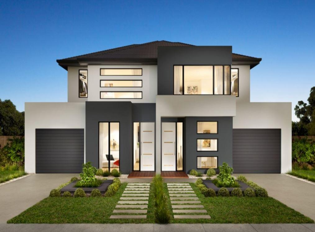 Imagenes de fachadas de casas de dos pisos modernas for Pisos elegantes para casas
