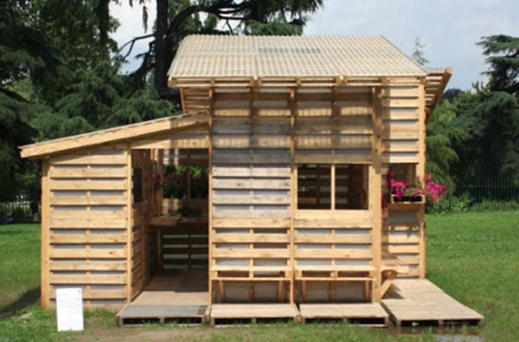 Casas con palets - Casa de palets para ninos ...