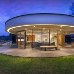 Casa circular vidriada