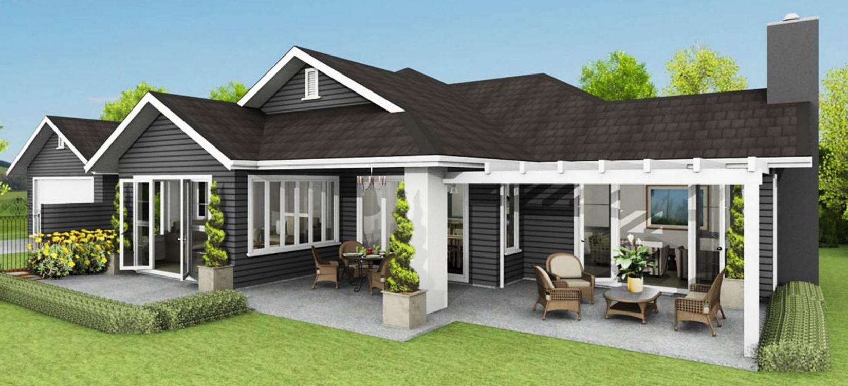 Fachadas de casas fachadas de casas modernas y bonitas for Casas una planta